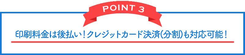 POINT 3 予備チラシ 2,000部 サービス!!